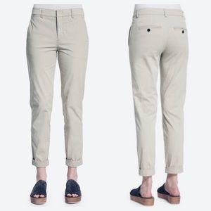 Vince Boyfriend Trouser Pants 4 Rolled Cuff Twill